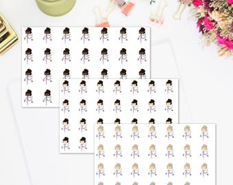 Domestic Diva Cute Girl Mopping Planner Sticker