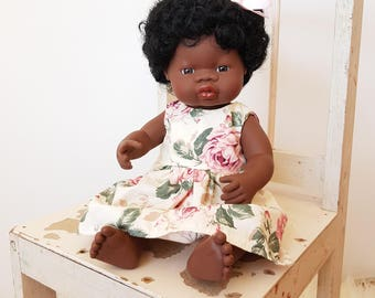 Doll dress 16 inch fits miniland, baby born, cabbage patch doll