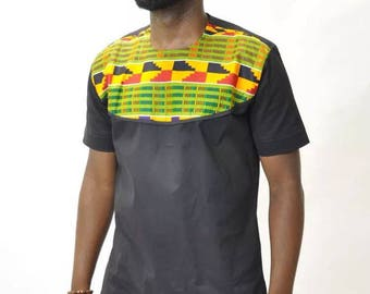 Black African Kente shirt