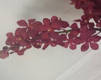 Farm Fresh, Natural, Red Mokara Orchids, wedding bouquets, table centerpieces, arrangements, leighs, Parties