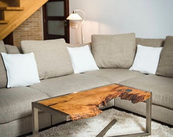 coffee table with resin