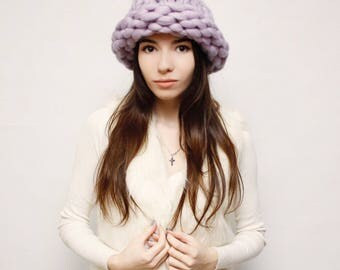 Helsinki hat/ Helsinki hat / Merino wool hat/ Chunky hat / Merino Wool Knitted Hat/ Bulky Knit Hat winter hat women hat