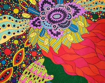 "Original Drawing Art ""Seventh Chakra"""