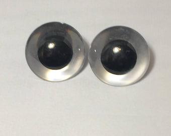 40 mm Safety Eyes, Animal Eyes, Craft Eyes, 1 pair, round pupil