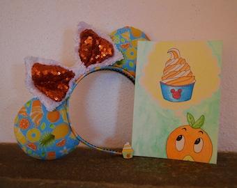 Citrus Swirl // Orange Bird // Disney World // Disney // watercolor // original