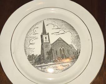 First Christian Church Plate