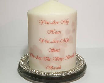 Unscented Pillar Candle,Gift For Her, Gifts, Valentine's Gift, Friend Gift, Wife Gift, Mother Gift, Unique Gift, GirlFriend, Valentines Day