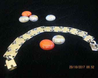 Hand made steel bracelet from coins