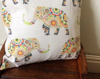 Elephant Print Handmade Cushion