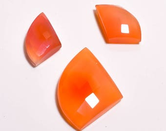 Natural Loose Gemstones  Red Onyx 3 Piece Set 37.65  Carat   Code 392