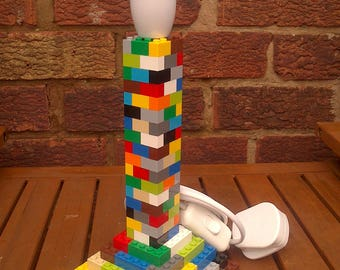 LEGO Brick Bedside Table Lamp Stand