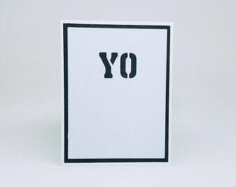 YO note card