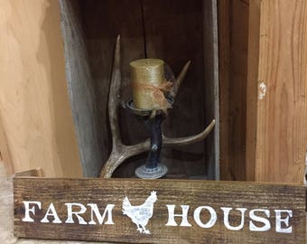 Rustic Farm House Wooden Sign