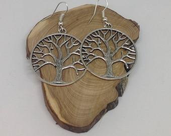 Earrings large tree of life