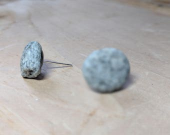 Natural Rock Earrings