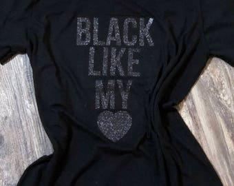 black like my heart tee