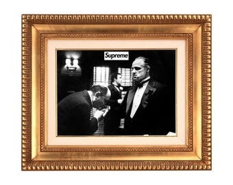 Supreme x Godfather 'Respect' Poster or Art Print