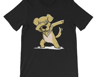 Cute Golden Retriever Dog Dabbing T-Shirt Funny Dab Dance Gift Shirt