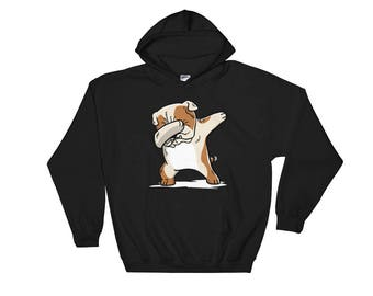 Cute Dabbing English Bulldog Dog Hoodie Funny Dab Dance Gift