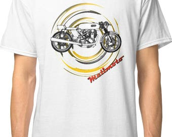 Inished Productions Matchless G50 AJS 7R Seeley retro bespoke urban Motorcycle art T-Shirt Melimoto