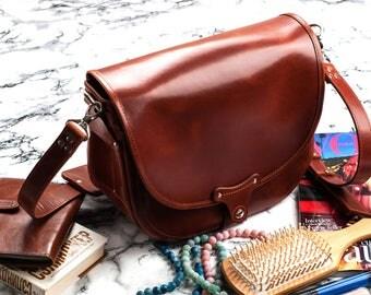 Leather crossbody Saddle bag Leather messenger Handbag Hobo bag Leather saddle bag Leather purse Handmade bag Gift for woman