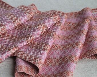 Hand Woven Pinks Bamboo Yarn Scarf