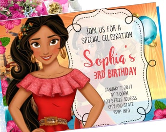 Elena of Avalor Birthday Invitation, Elena of Avalor Invite, Elena of Avalor invitation, Elena of Avalor, Birthday Invitation, Invitation