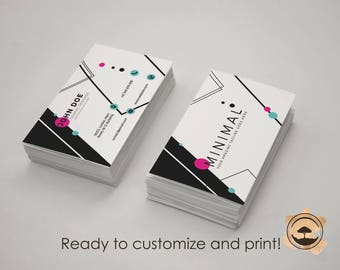 Minimal Colofull Corporate Business Cards Two sides! Print ready!