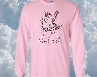 Lil Peep, cry baby, kawaii, pink, very rare graphic long sleeve shirt