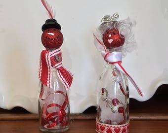 Valentine Snowman Couple
