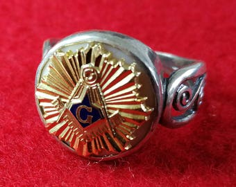 Masonic Ring Sterling