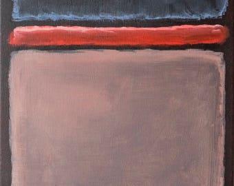 "Mark Rothko inspired: 11x14"""