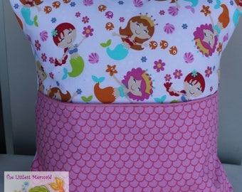 Pink Mermaid Reading Pillow // Kids Reading Pillow // Pocket Pillow // Mermaid Pillow
