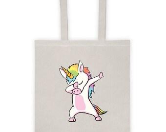 Cute Unicorn Dabbing Dab Dance Tote bag
