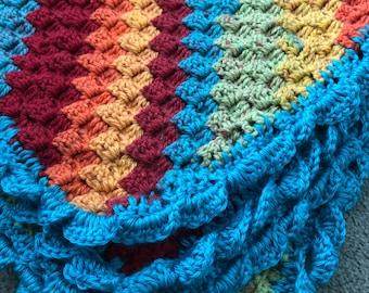 Rainbow Baby Blanket Crochet