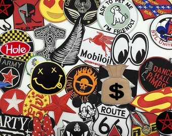 10pcs of Mystery High Quality Embroidered Iron On Patches