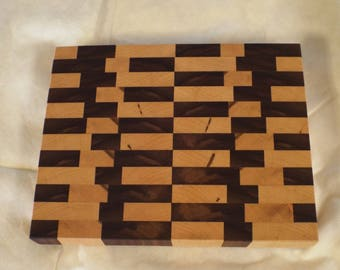 Black Walnut and Maple End Grain Cutting Board