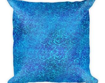 Mystic Blue Square Pillow