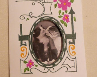Handmade Greeting Card,  Garden Gate Picture All Occasion Card,  Greeting Card, Made in the USA, #64