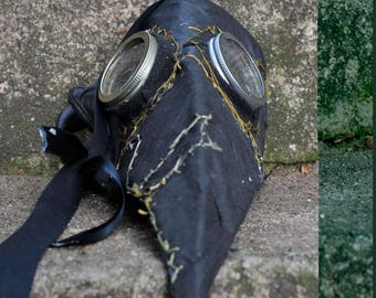 plague doctor mask victorian paper mache steampunk costume creepy scary LARP medieval masquerade renaissance cool handmade carnival bird