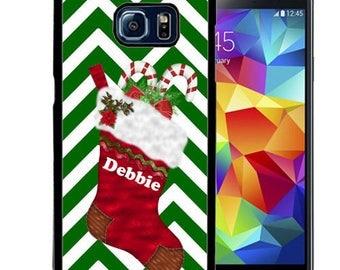 Christmas Rubber Case For Samsung S5, S6, S6 edge, S6 Edge Plus, S7, S7 Edge,  8, 8 plus -  Stocking