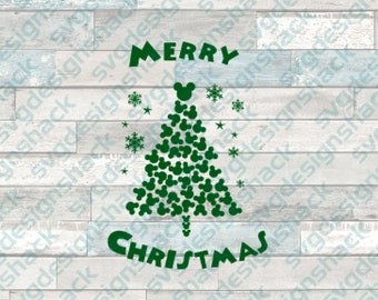 Merry Mickey Christmas Tree SVG, DXF, EPS, Studio 3, Png