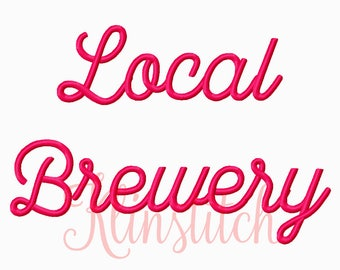 50% Sale!! Local Brewery Embroidery Fonts 5 Sizes Fonts BX Fonts Embroidery Designs PES Fonts Alphabets - Instant Download