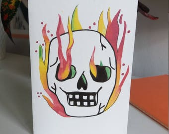 Hand Drawn Skull Card with Envelope
