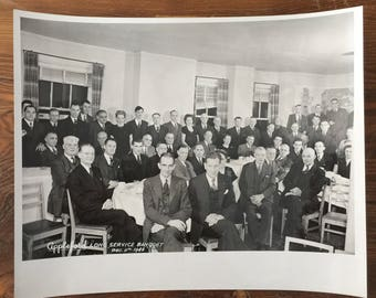 Vintage 1940s Photo Appleford Banquet 1946