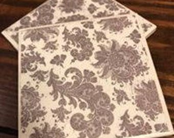 Black and White Paisley Drink and Beverage Coasters