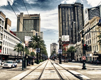Canal Street New Orleans on canvas