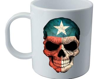 texas flag skull mug-texas pride