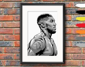 Anthony Joshua Boxing Premium Print Wall Art Poster