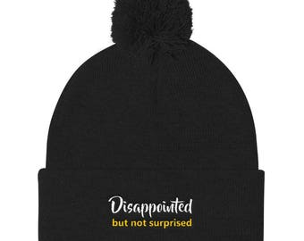 Disappointed but not surprised Pom Pom Knit Cap